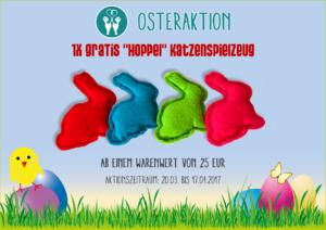 """1x Gratis """"Hoppel"""" Katzenspielzeug"""